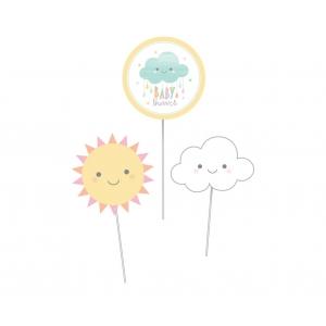 Dekoracja topper na stół CHMURKA Baby Shower