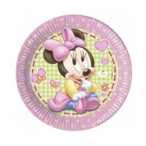 Talerzyki papierowe Minnie Baby, 23 cm, 8 szt.