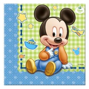 """Serwetki """"Mickey Baby"""" 33x33 cm, 20 szt."""