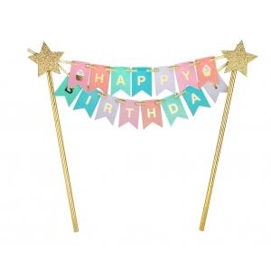 Topper Dekoracja na tort PB&C Happy Birthday