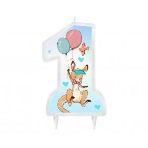 Świeczka urodzinowa Kolekcja Roczek - Kangurek