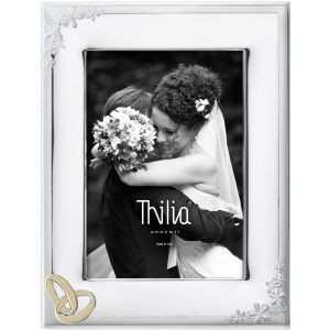 Ramka na ślub z obrączkami  10x15 cm