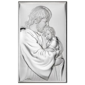 Srebrny Obrazek Jezus Chrystus 6,6x11cm