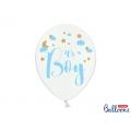 Balony 30cm, It's a Boy, Pastel Pure White