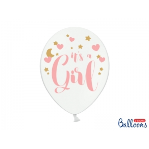 Balony 30cm, It's a Girl, P. Pure White