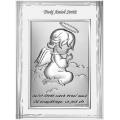 Obrazek Srebrny Modlący Aniołek 9x12 cm