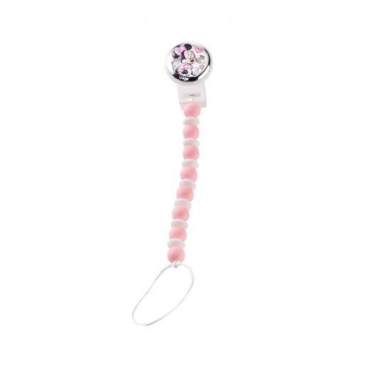 Zapinka do smoczka Myszka Mini różowa