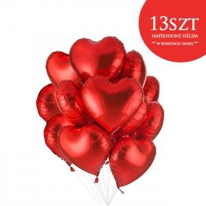 Bukiet z balonów w kształcie serc