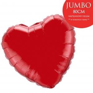 Duży czerwony balon w kształcie serca