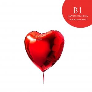 Czerwony balon w kształcie serca