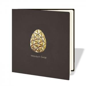 Kartka Wielkanocna z geometryczną pisanką