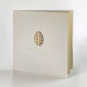 Kartka Wielkanocna z pisanką i baziami