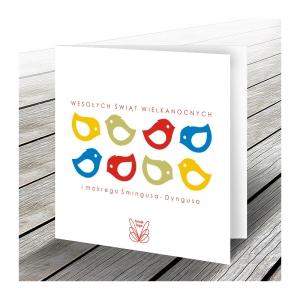 Tanie kartki wielkanocne dla firm z logo
