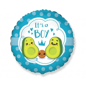 Balon foliowy 18 cali FX - It's a boy, avocado