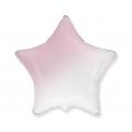 Balon foliowy 18 cali FX - Gwiazda (gradient biało-różowy)