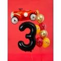 """Balon foliowy Cyfra """"3"""", 86cm, czarny"""