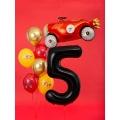 """Balon foliowy Cyfra """"5"""", 86cm, czarny"""