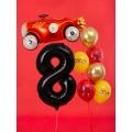 """Balon foliowy Cyfra """"8"""", 86cm, czarny"""