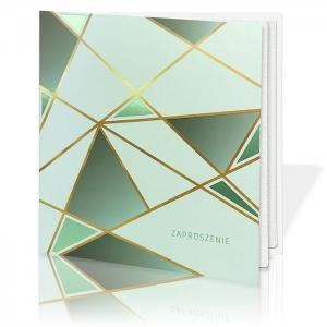 Zaproszenie Ślubne Geometryczne Heksagony