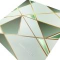 Zaproszenia ślubne zielone w geometryczne wzory