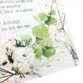 Jednostronne zaproszenia ślubne z motywem eukaliptusa i złocenia