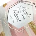 Zaproszenie Ślubne Muśnięte Pastelą F1606