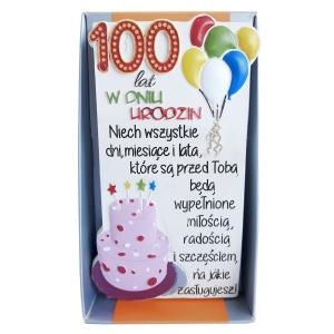 """Tabliczka Moments in Stone na urodziny """"100 lat"""""""