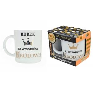 """Kubek Premium """"Jej wysokość królowa"""""""