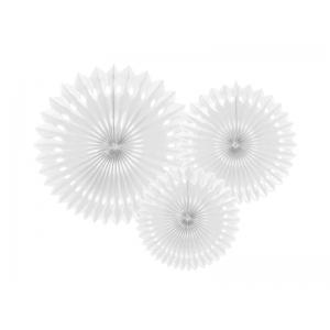 Rozety dekoracyjne, biały, 20-30cm