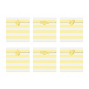 Torebki na słodycze Yummy, jasny żółty, 13x14cm