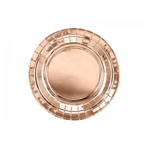 Talerzyki okrągłe, różowe złoto, 18cm