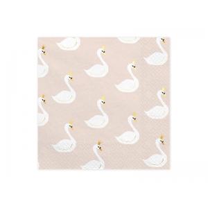 Serwetki Lovely Swan, 33x33cm