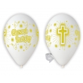 Balony Premium Chrzest Święty, 12 cali / 5 szt.