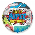 Balon foliowy 18 cali FX - SuperBirthday- COMIC