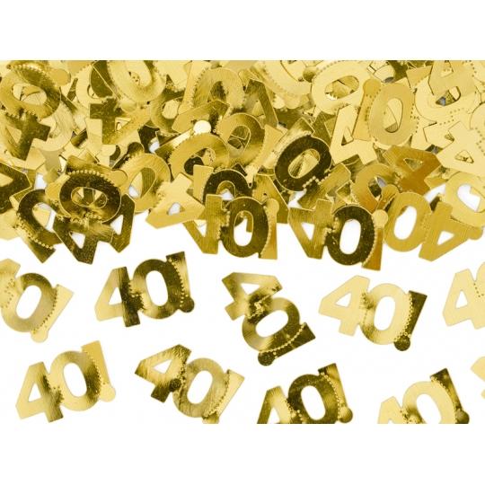 Konfetti metalizowane, liczba 40, 15g