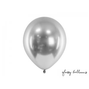 Balony Glossy 30cm, srebrny