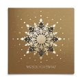Kartka świąteczna 3D z ornamentem śnieżynki FS1055