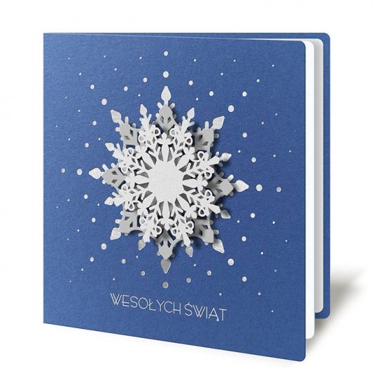 Kartka świąteczna 3D z ornamentem śnieżynki FS1056