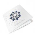 Kartka świąteczna 3D z ornamentem śnieżynki FS1057
