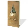 Kartka Świąteczna ze złotą choinką FS1050SZ