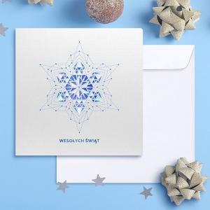 Kartka świąteczna z motywem gwiazdy FS1054
