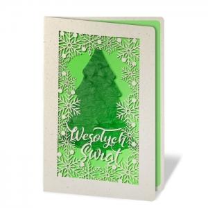 Kartka świąteczna z nasionami świerka pospolitego FS1044