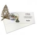 Kartka świąteczna z wyciętą laserowo choinką 3D H4111