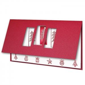 Kartka świąteczna z okienkami H1655
