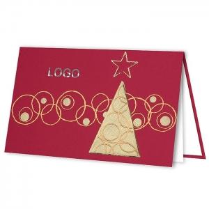 Kartka świąteczna z choinką H1813