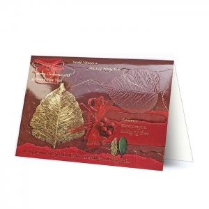 Kartka świąteczna z ozdobnym motywem świątecznym H1256