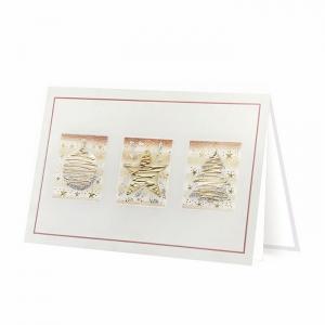 Kartka świąteczna z ozdobnym motywem świątecznym H1716