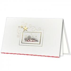 Kartka świąteczna z ozdobnym motywem świątecznym H1849