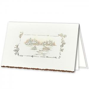 Kartka świąteczna z ozdobnym motywem świątecznym H1026