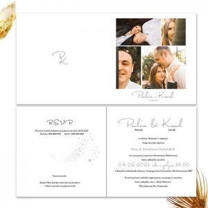 Zaproszenie ślubne ze zdjęciem narzeczonych